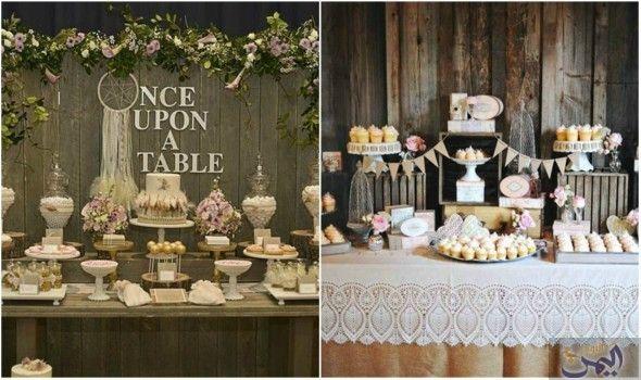 اتبعي هذه الأفكار لتزيين طاولة الضيافة لحفلات الزفاف Table Table Decorations Decor