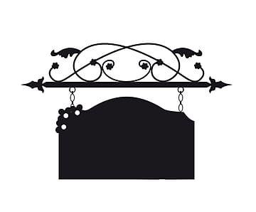 Adesivo in vinile lavagna targa nero - 24x40 cm