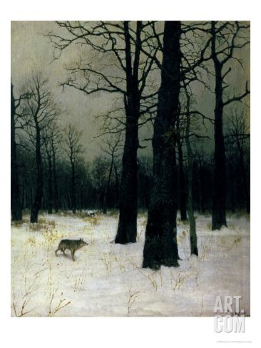 wood in winter 1885 by isaak ilyich levitan giclee print from art