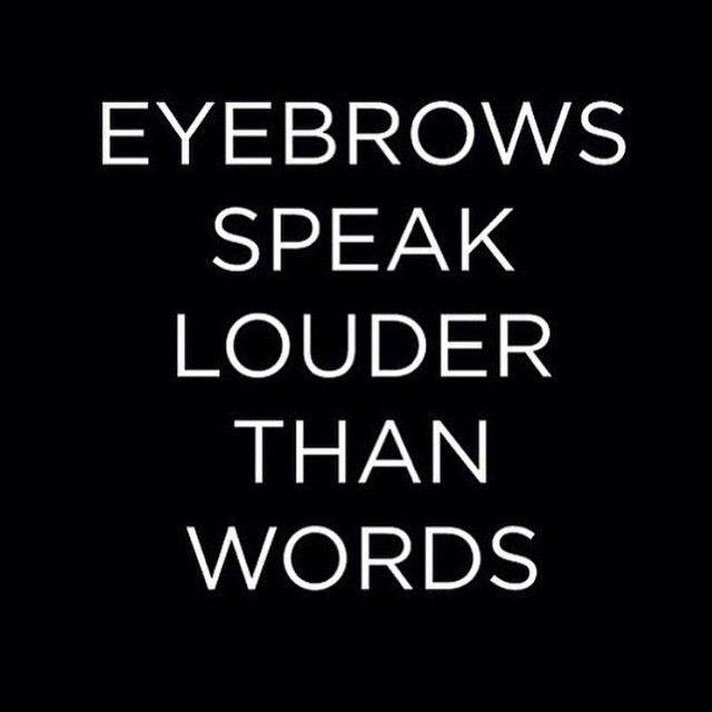 Eyebrows speaker louder