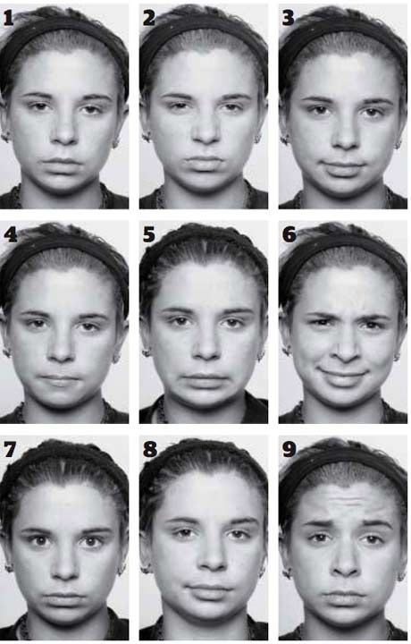 slight facial expression changes. Teach this for a more ...