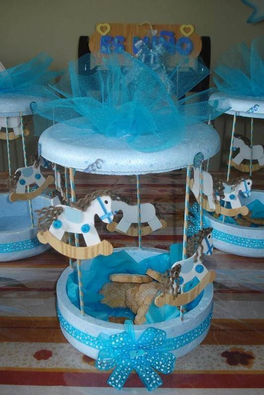 carusel para baby shower centerpiece