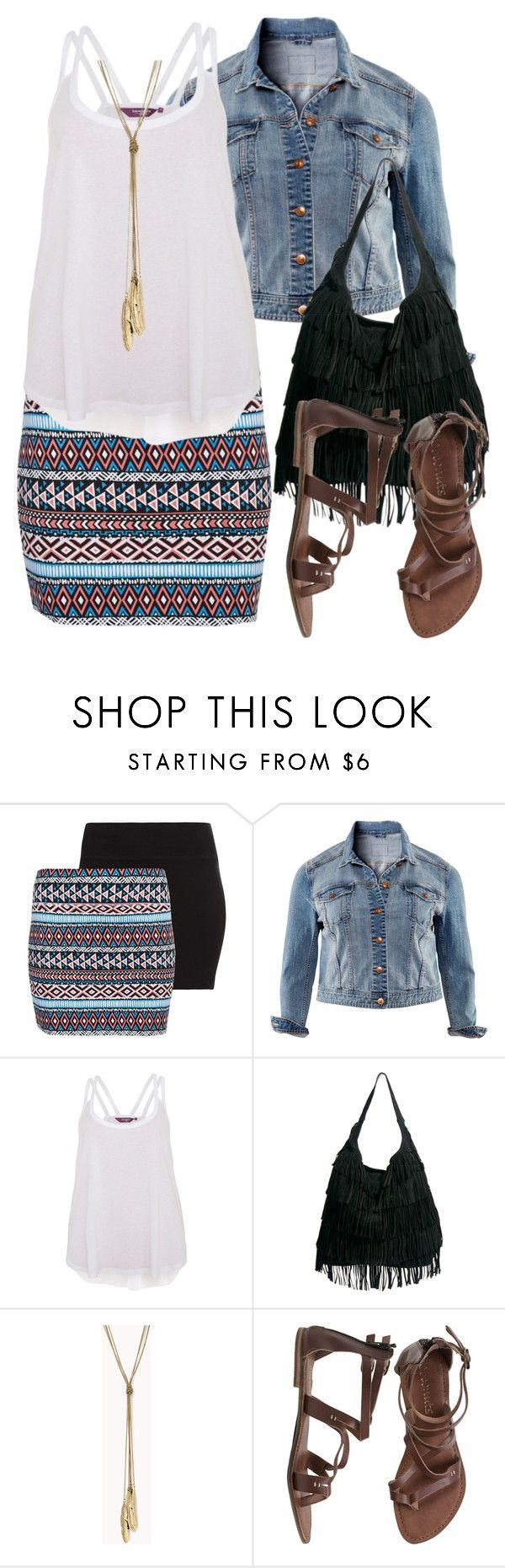 """Aztec Skirt - Plus Size"" by alexawebb ❤ liked on Polyvore featuring H&M, ASOS, Forever 21, Summer, Aztec, plus, plussize and size"