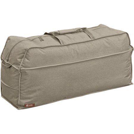 Classic Accessories Montlake Patio Furniture Cushion Storage Bag, Beige
