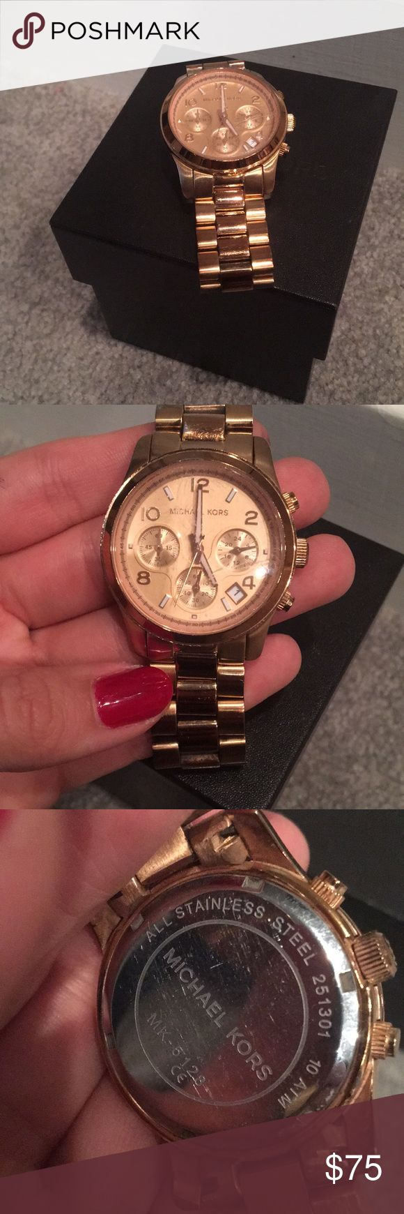 Rose gold Micheal Kors watch Normal wear and tear  Good condition  All rose gold  Box included Michael Kors Jewelry