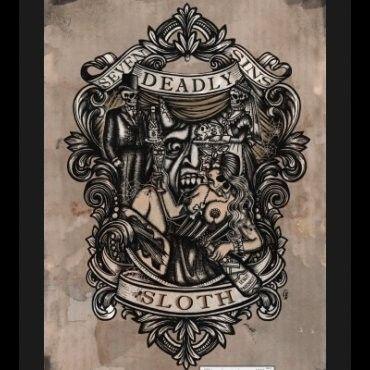 Sloth, Print by Se7en Deadly - SBTT