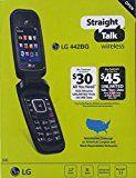 #9: LG 442BG Straight Talk Pre Paid Flip Phone