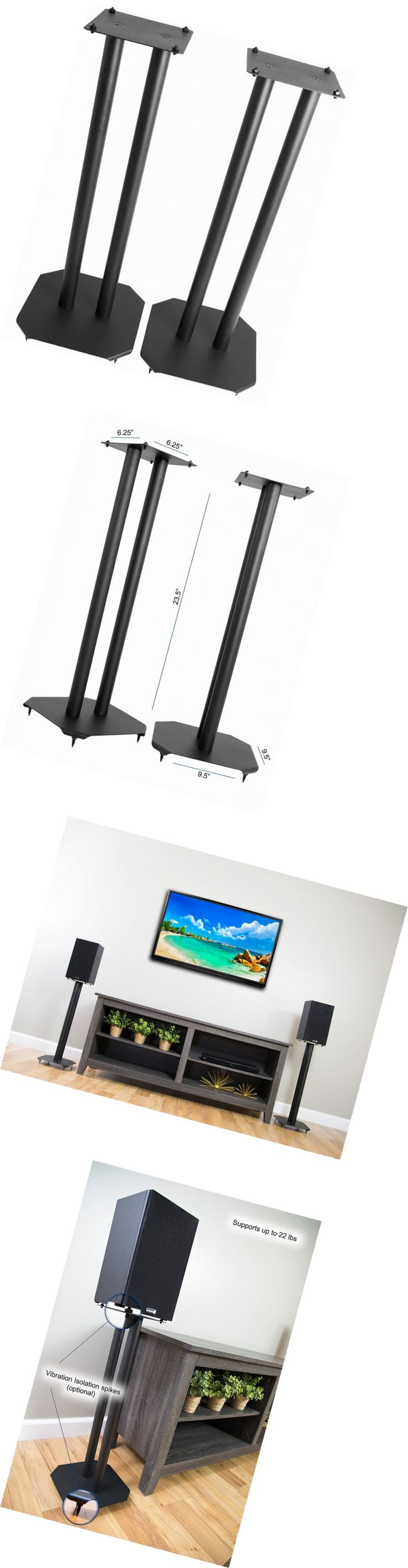 best ideas about surround sound speaker stands speaker mounts and stands vivo premium universal floor speaker stands for surround sound and book