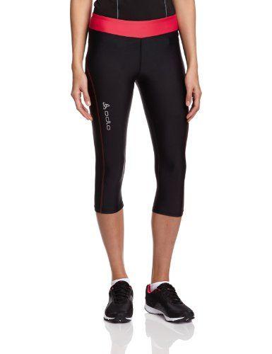 Odlo Damen Hose Running Tights 3/4 Shana, Black - Rose Red, M, 347331 Odlo http://www.amazon.de/dp/B00EYFP5ZW/ref=cm_sw_r_pi_dp_DGkcvb160FR42