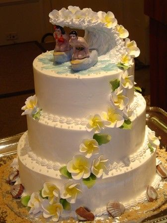 Hawaii Wedding Cakes | wedding cakes,wedding cake with orchids hawaiian,hawaiian wedding cake ...