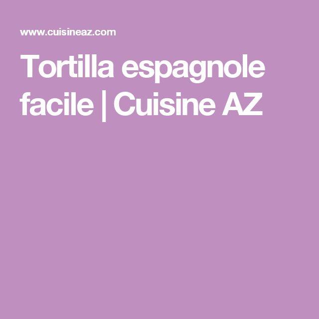 Tortilla espagnole facile   Cuisine AZ