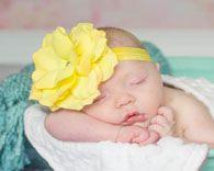 Jamie Rae Yellow Rose Flowerette Burst Headband  Newborn to 4 Years