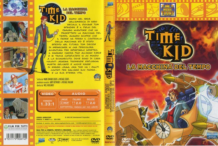 Time Kid - La macchina del tempo (Time Kid, 2003) by Will Meugniot and Pam Carter, Dvd cover out Ita (3192x2136)