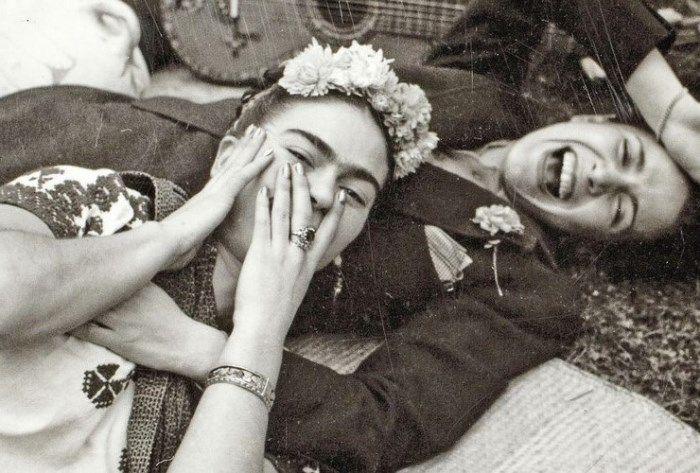 Фрида Кало и Чавела Варгас, 1945. Фото Николаса Мюррэя