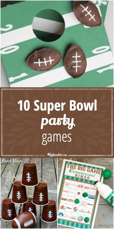 10 Super Bowl Party Games via @tipjunkie