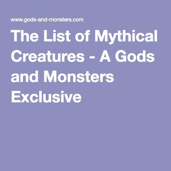 List Mythical Creatures Names