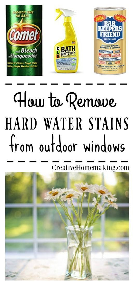 Removing Water Marks from Windows | Hard water stains, Hard water ...
