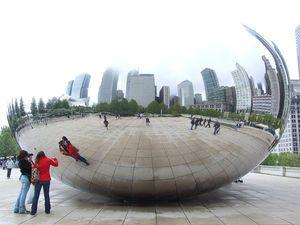 Chicago Cloud Gate, Anish Kapoor, Chicago, USA, Spiegel, Plastik, Kunst, Kunst am Bau