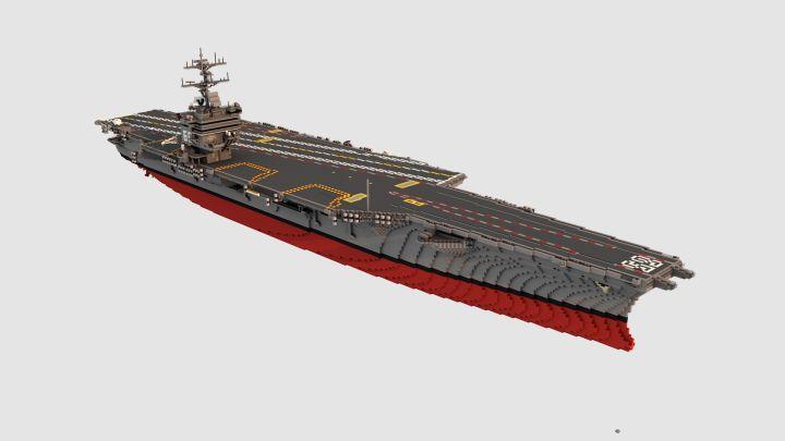 USS Enterprise (CVN-65)  1:1 scale Minecraft Project