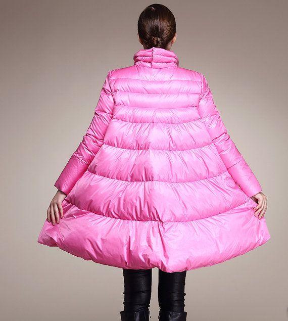 Female Fashion white duck down cloak down jacket by pppyesr