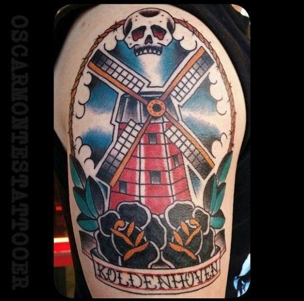 25 Enduring Windmill Tattoos