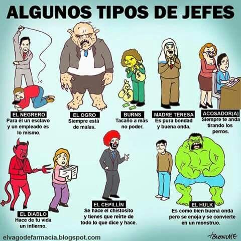 Tipos de jefes #oficina