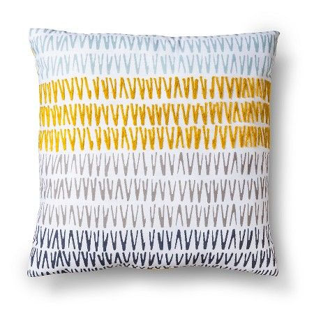 Room Essentials Embroidered Triangle Decorative Pillow Citron Square Target Shelia And