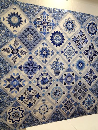 Antique Wedding Sampler by Di Ford - blue and white version