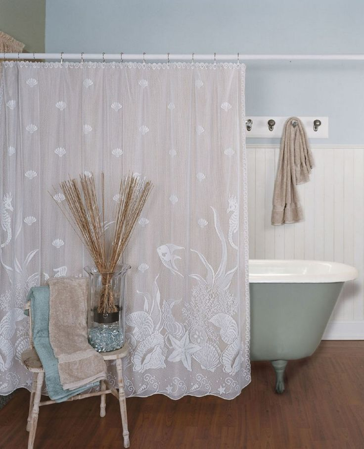 Use A Traditional Shower Curtain For Claw Foot Tub In Main Floor Bathroom.