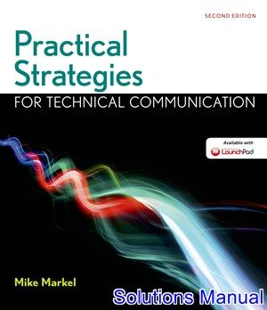 8 best solutions manual download images on pinterest practical strategies for technical communication with 2016 mla update 2nd edition markel solutions manual test fandeluxe Choice Image