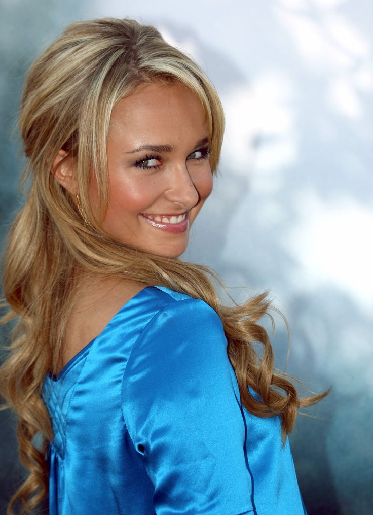Hayden Panettiere - the blonde hair, light blue dress and smile go perfectly together! Love it!