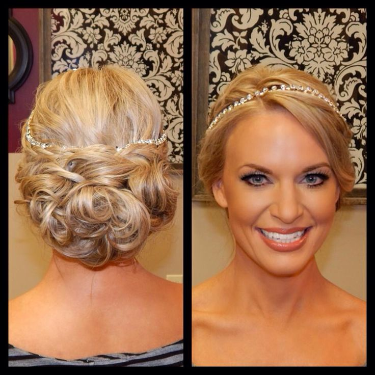 Formal Makeup Soft Shimmery Eye With Lashes Formal Updo