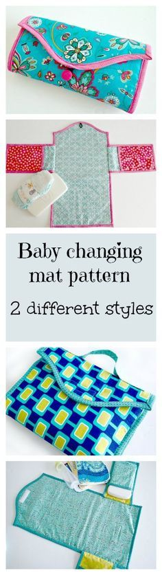 Pour les prochaines qui accouchent... Baby changing mat. Several different styles and options in the same pattern.