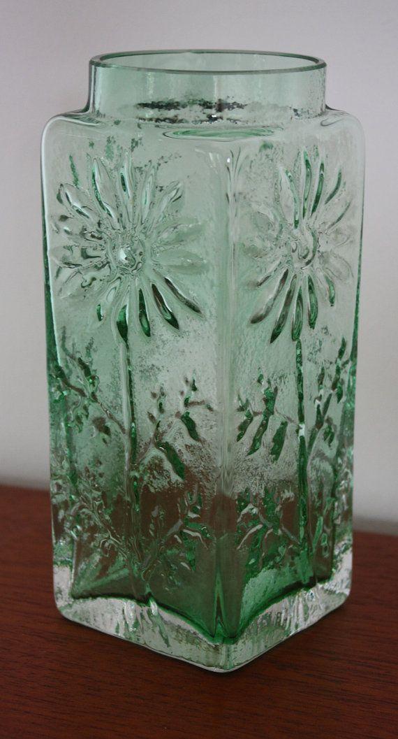 Vintage Dartington Glass 'Marguerite' Vase by janestangerinehouse