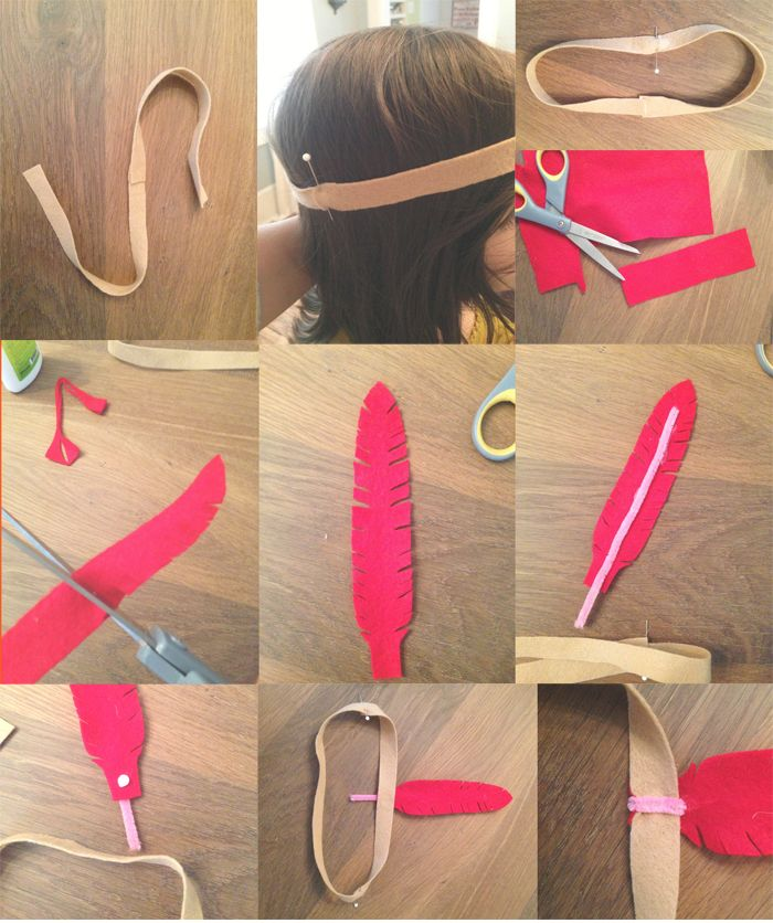 how to make an indian headband out of felt