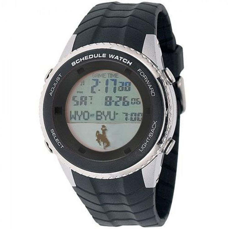 Wyoming Cowboys NCAA Mens Schedule Watch  The #Game #Time #Schedule #Watch may be the coolest sports watch ever made. Now you can have your team's schedule on your wrist. Watch and follow their progress. Each Game Time Schedule Watch comes pre-programmed with your team's schedule.