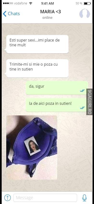 Îmi trimiți și mie o poză cu tine în sutien? Vezi Postarea ➡ http://9gaguri.ro/media/imi-trimiti-si-mie-o-poza-cu-tine-in-sutien