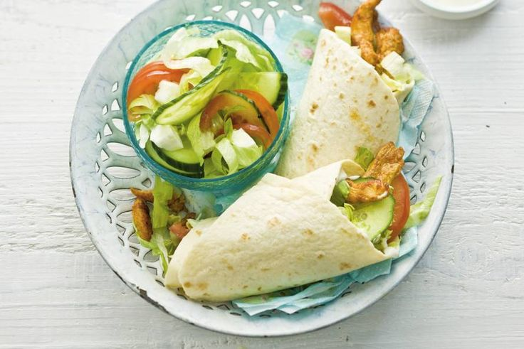 Kijk wat een lekker recept ik heb gevonden op Allerhande! Wraps met shoarma en salade