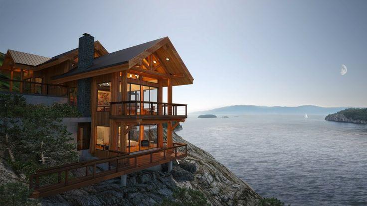 Sunshine Coast, BC. New home rendering