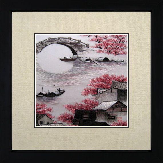 King Silk Art 100% Handmade Embroidery Suzhou Water by KingSilkArt