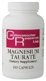magnesium taurate  for restless leg, muscle spasms, charlie horses, fatigue, depression