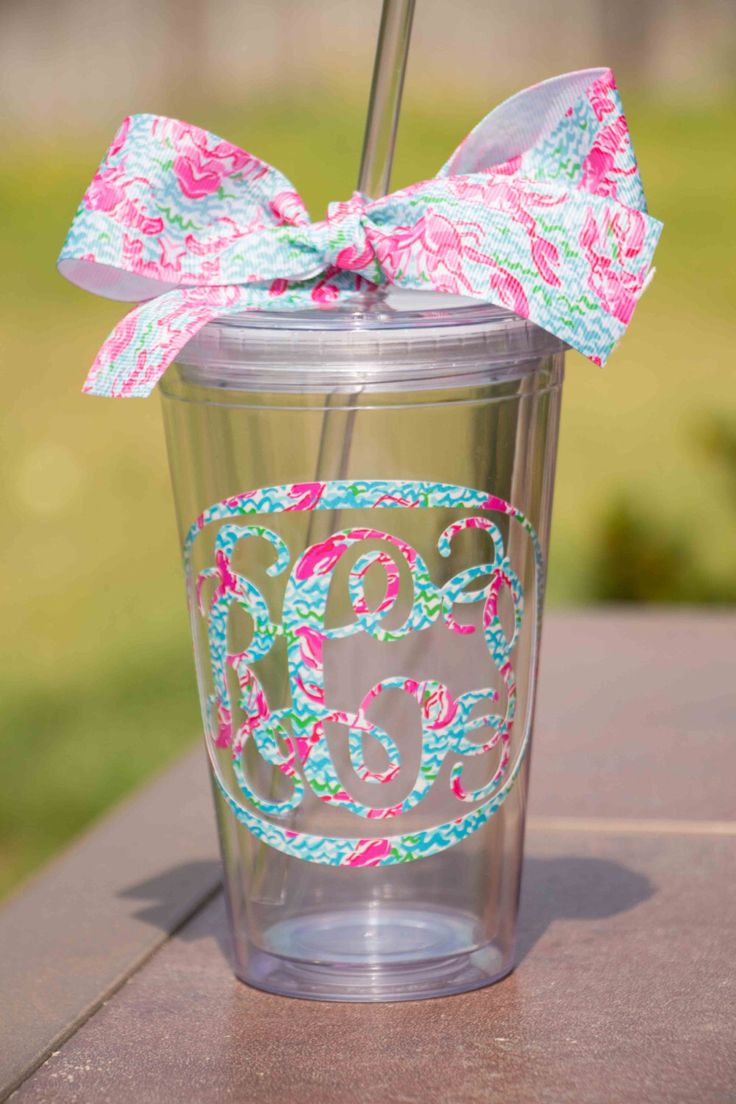 best 25  monogram cups ideas on pinterest