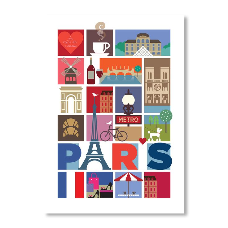 Paris | A2 Print by Rummage Sale on brandsExclusive