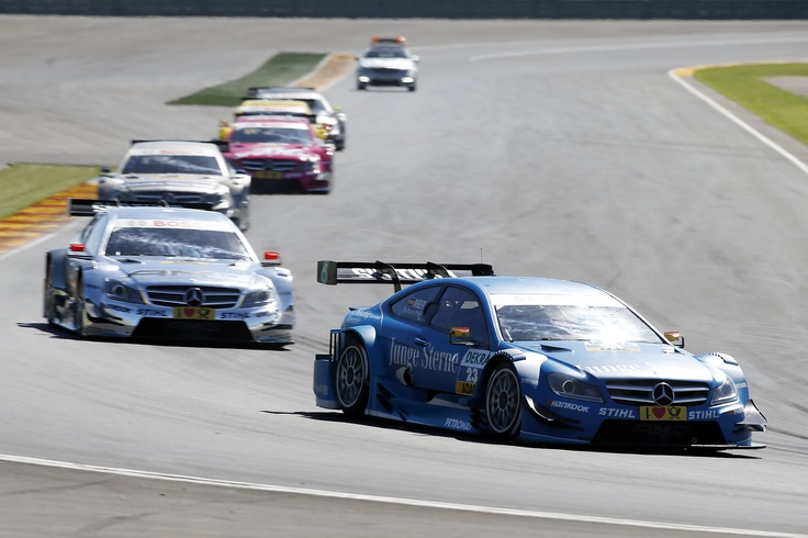 DTM, Valencia, round 9, 28-30 September 2012. Roberto Merhi, Junge Sterne Mercedes AMG C-Coupé, Jamie Green, Mercedes AMG C-Coupé