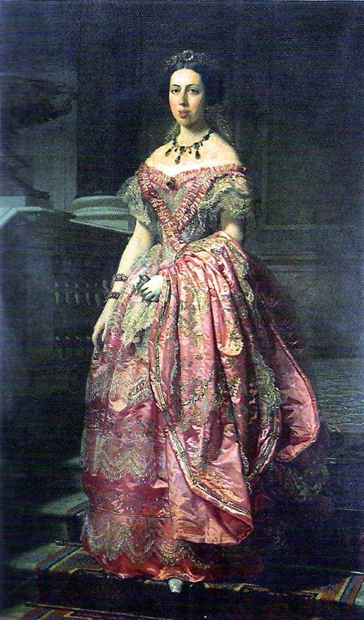 1854 Duquesa Fernán-Núñez by Federico Madrazo y Kunz (private collection)   Grand Ladies   gogm