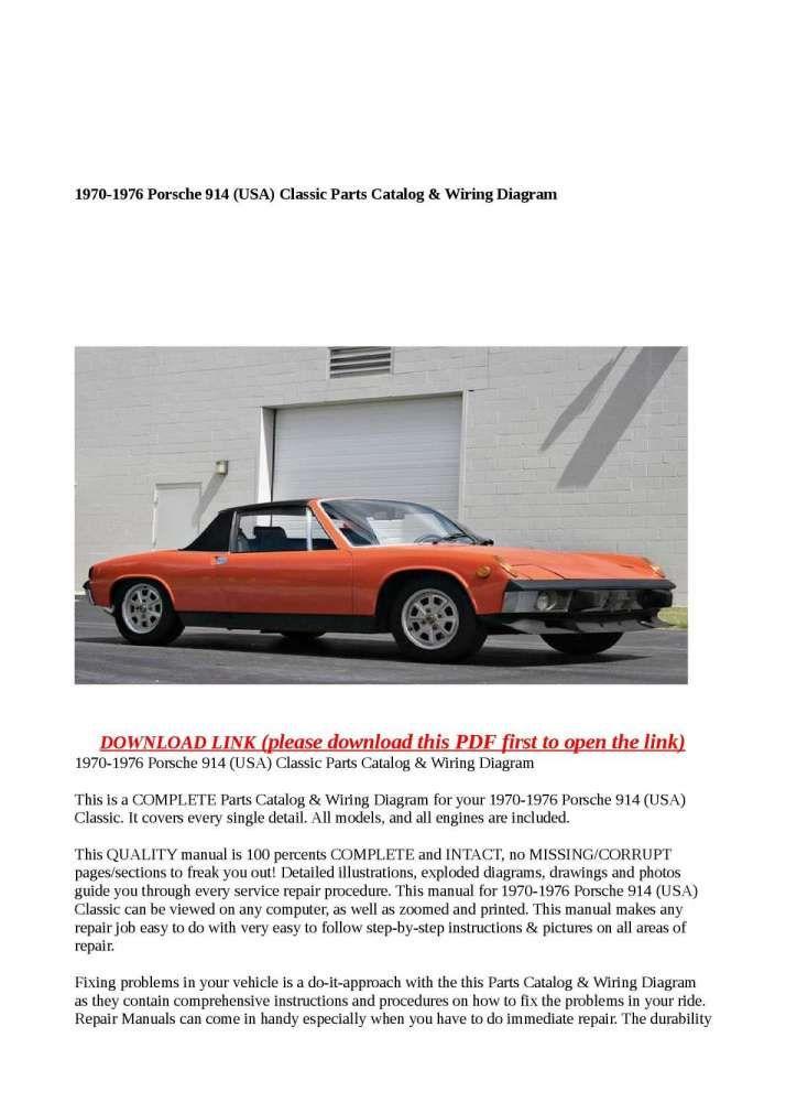 17 Porsche 914 Engine Wiring Diagram Engine Diagram Wiringg Net Nel 2020