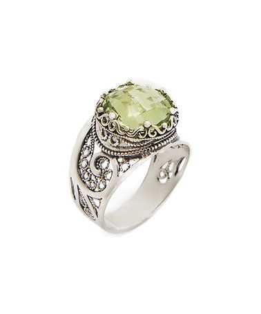 Look what I found on #zulily! Prasiolite & Sterling Silver Paisley Filigree Ring #zulilyfinds