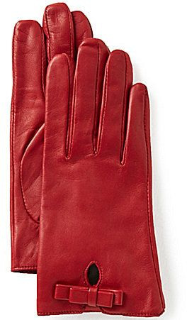 Dillard's Bow Leather Gloves