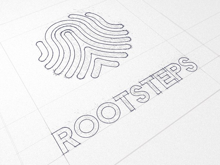 Rootsteps sketch made in phase 2 of the logo and brand development. #typography #logo #design #styling #branding  http://www.rootsteps.nl