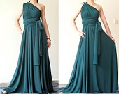 this dress is awesome... it can be made into a bunch of different dress styles.  found on etsy.com. check it out!!!!!!: Maxi Dresses, Convertible Dress, Bridesmaid Dresses, Bridesmaids Dresses, Green Bridesmaid, Infinity Dress